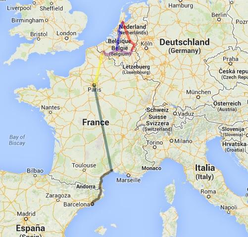 mapa eurotrip 1